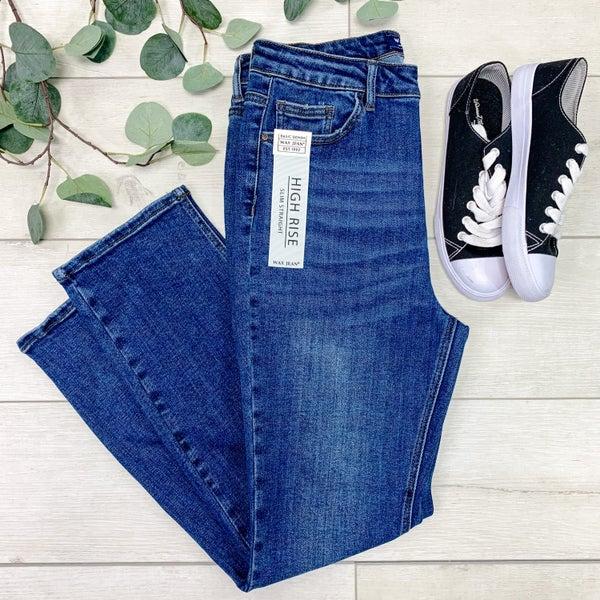 *Denim Collection* High Rise Slim Straight Jean, Dark