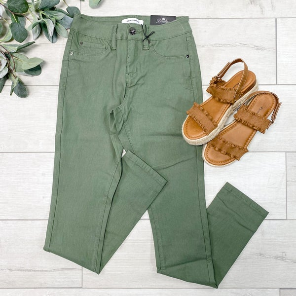 *YMI* Hyper-Stretch Forever Color Skinnies, Dill Green *Final Sale*