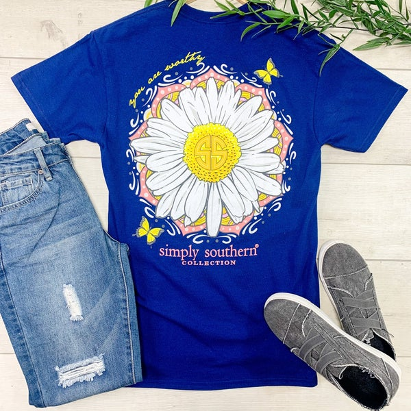 *Simply Southern* You Are Worthy T-Shirt, Midnight
