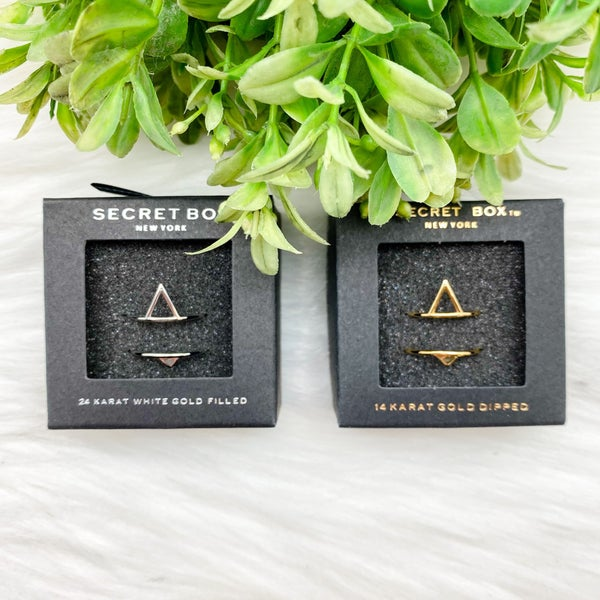 Triangle Ring Set