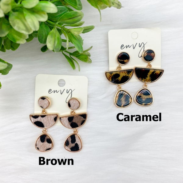 Animal Print Dangle Earrings