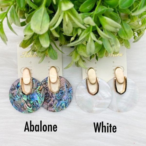 Shell Round Stud Earrings *Final Sale*