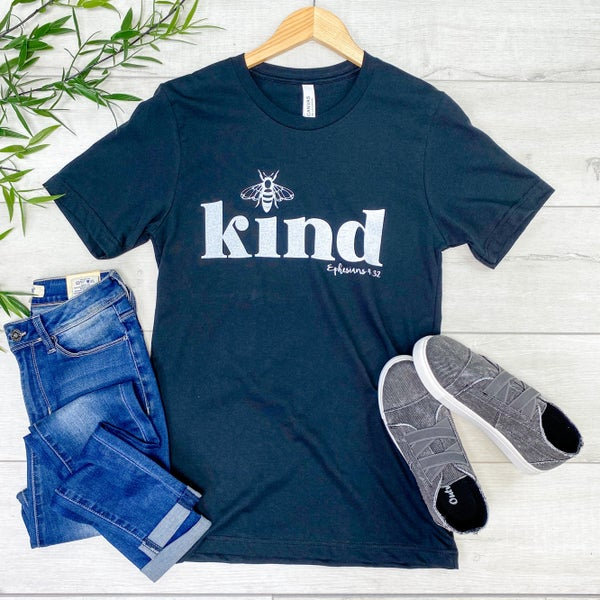 *Kendra's Collection* Be Kind Graphic Tee, Black