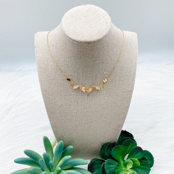 Short Butterfly Cluster Necklace