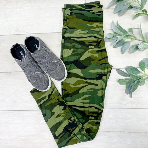 Printed Leggings, Army Camo
