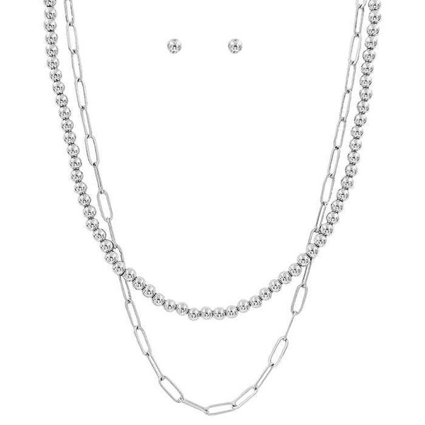 Chain Link layering  Necklace