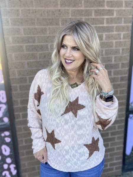 Blush Star sweater
