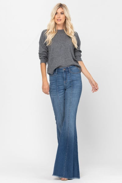 Judy Blue High Rise Seamed Flare