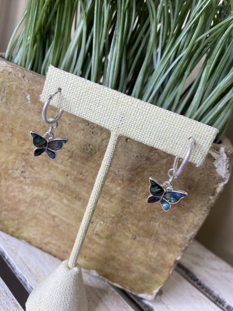 Abalone butterfuly earrings