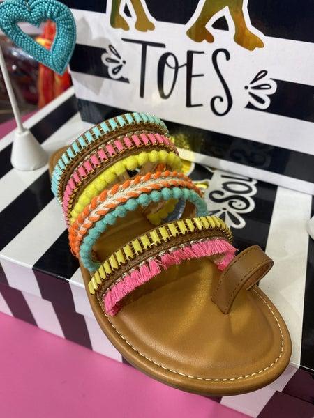Boho striped slide by Camel Threads