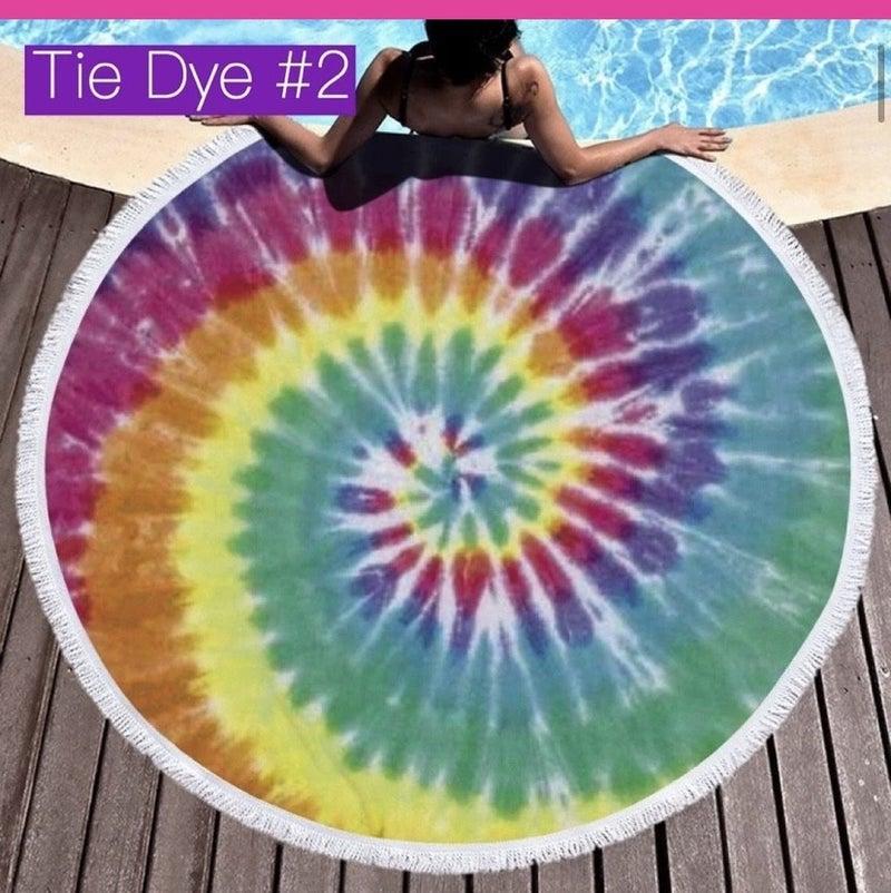 PRE-ORDER Round fringe beach towels