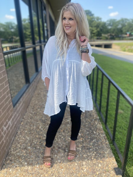 Off-White Sheer tunic with pockets