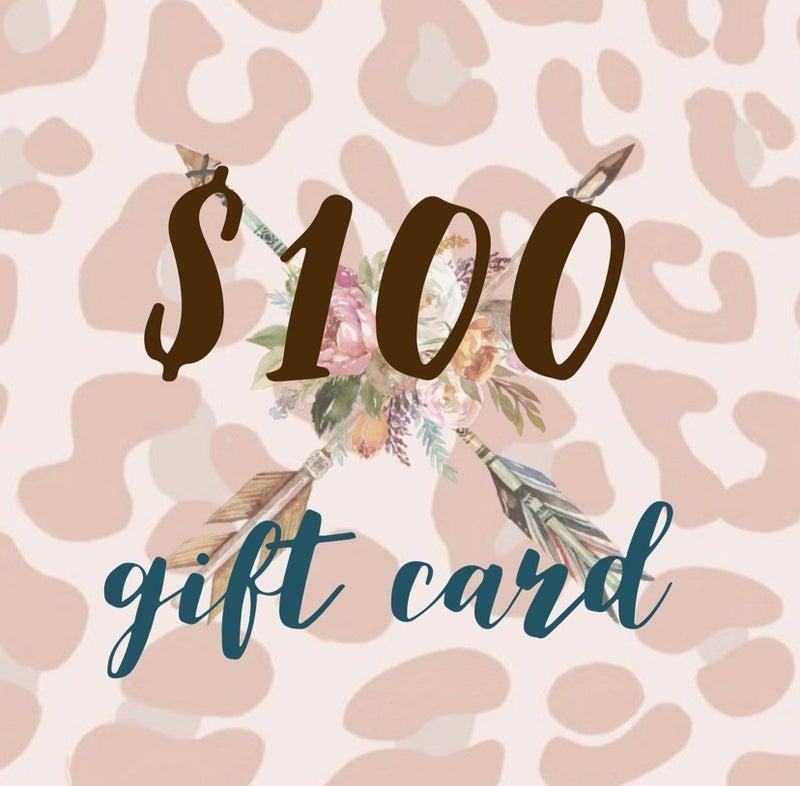 $100 Tribe Tender Gift Card