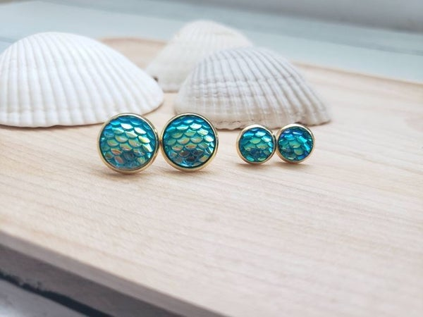 Mommy and Me Mermaid studs
