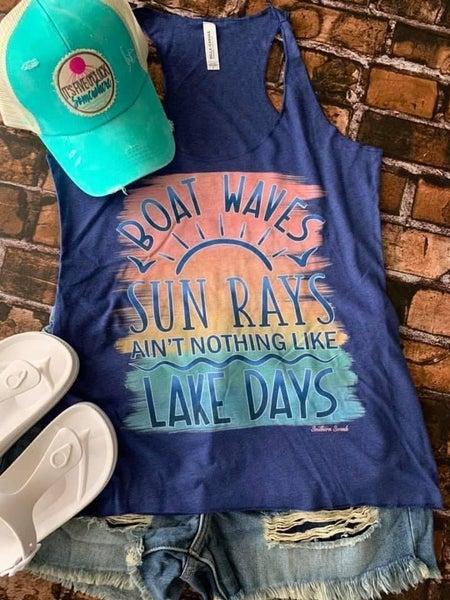 PRE-ORDER Boat Waves Sun Rays  Tank