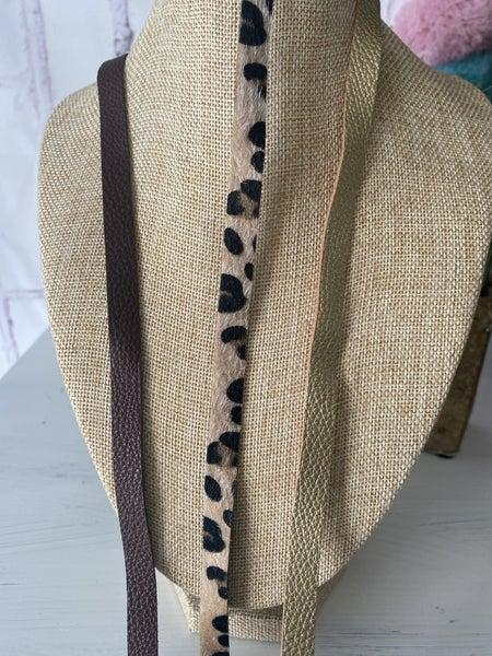 Slim Vegan leather necklace extender