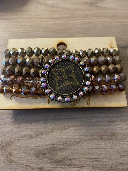 Designer inspired stack bracelet