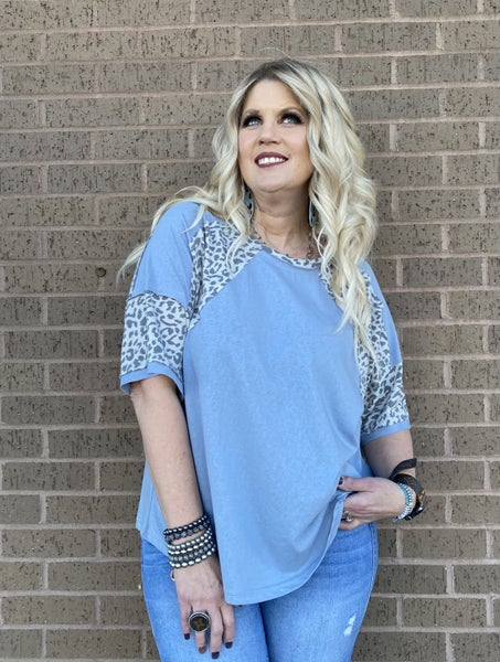 Blue Chambray Oversized top by Easel