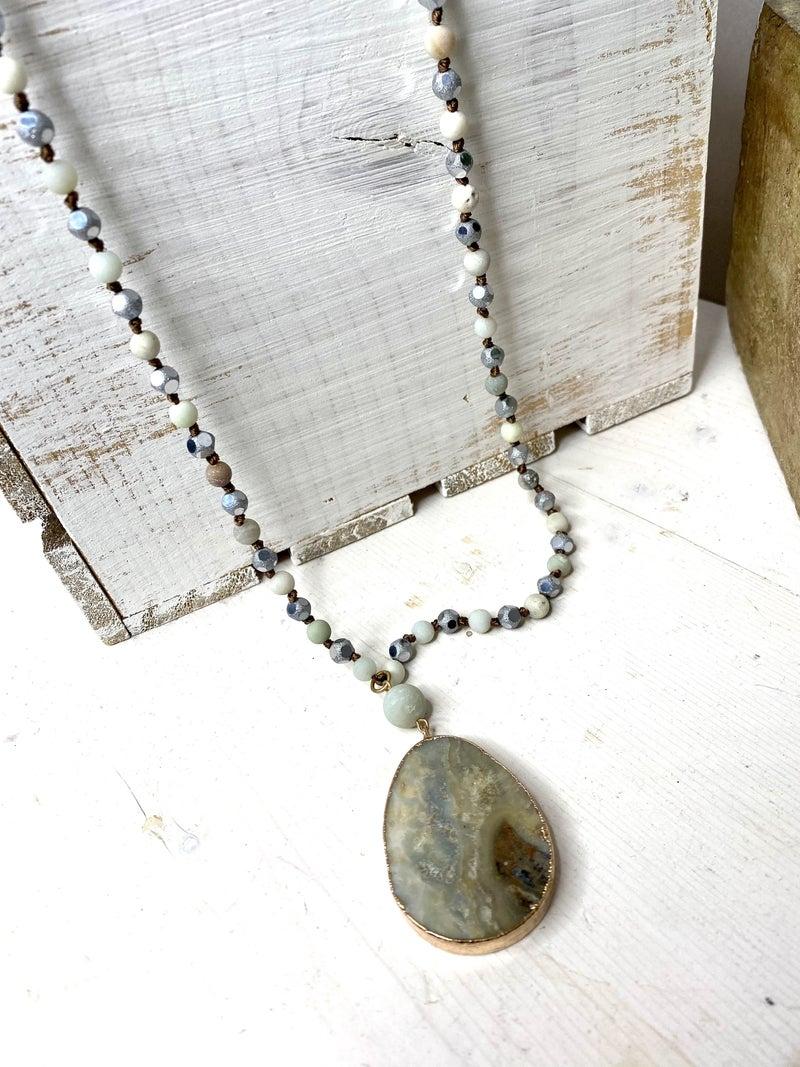 Gray days Stone Pendant