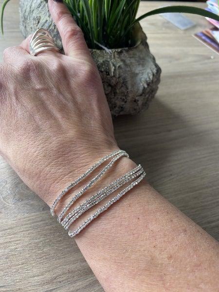 5 strand stretch rhinestone bracelets