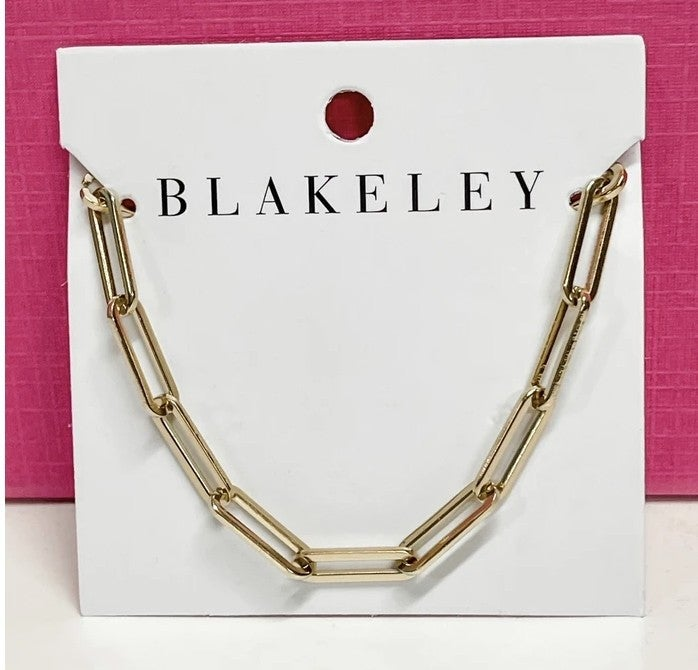 Chain link gold layering necklace