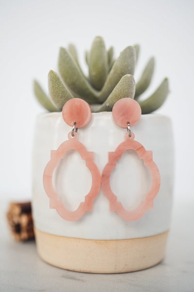 Hello Happiness Rose Acrylic Moroccan Earrings