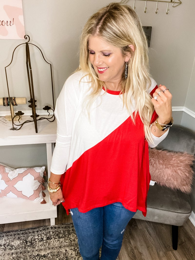 Game Day tunic top