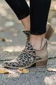Very G Spartan leopard bootie