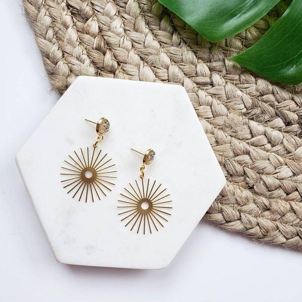 Sunbeam Druzy stone earrings