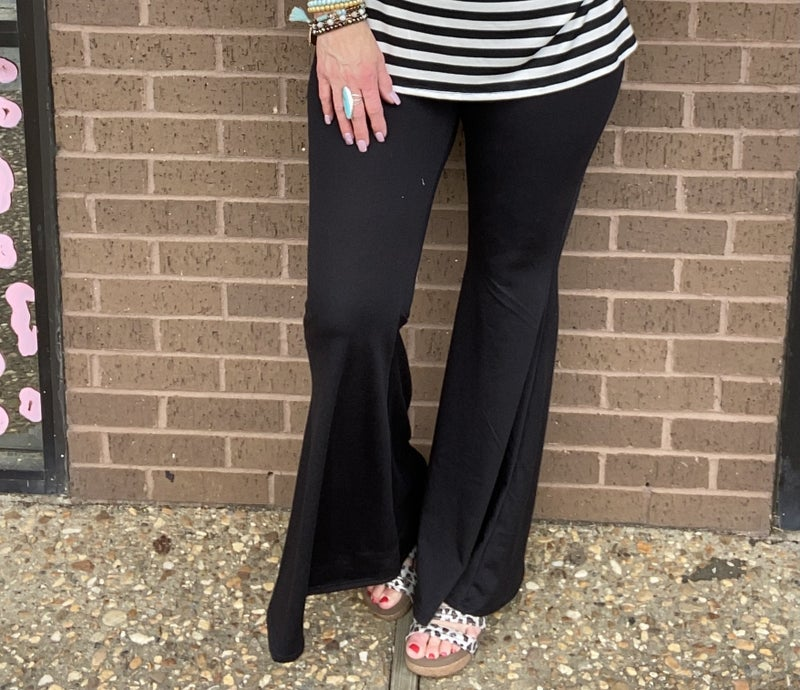 Black Flare leg pants