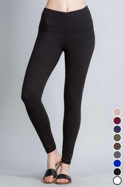 Black leggings by Rae Mode with hidden pocket