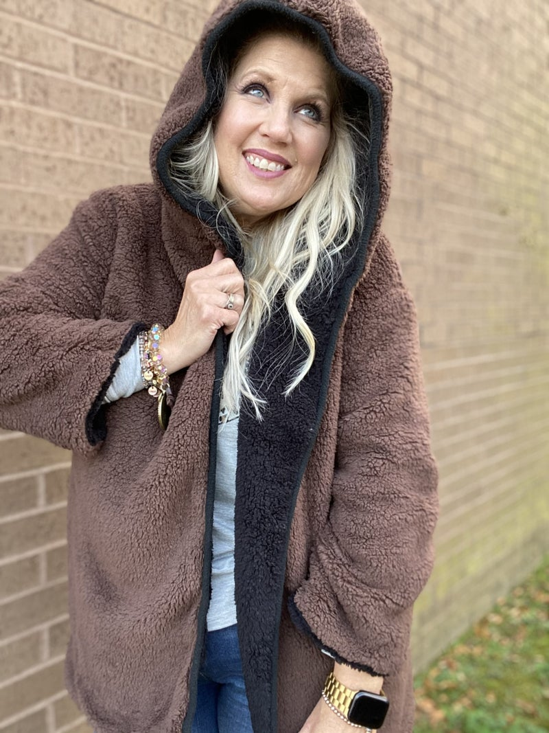 Reversable Fluffy Coat by Entro