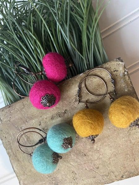 Mini Pom earrings