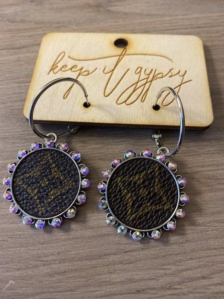 Designer inspired Silver Bling earrings