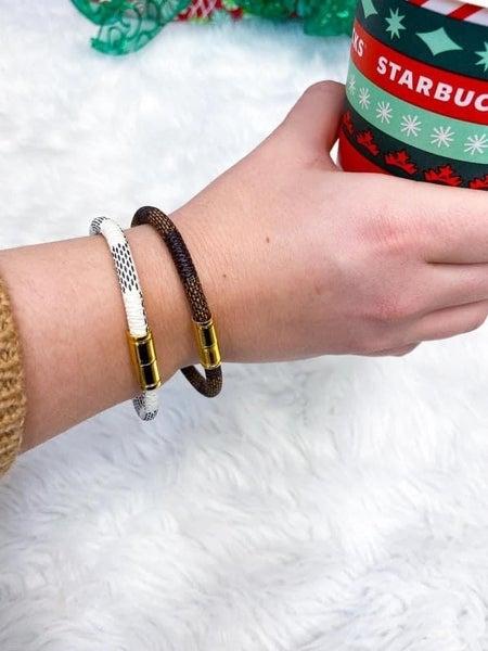 Checkered designer dupe bracelet