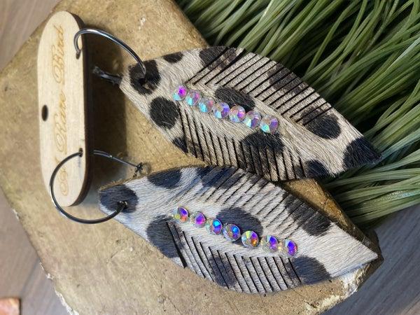 Handmade Cheetah Earrings  with AB stones
