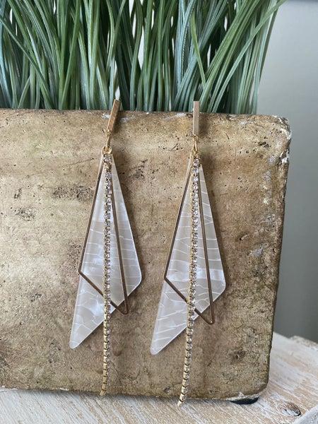 Angled earrings