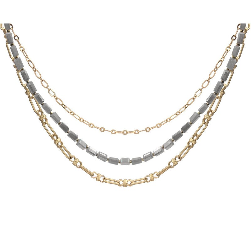 Multi Metal Chain Necklace