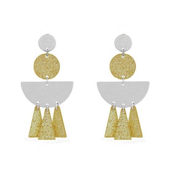 Cleopatra Mixed metal earrings