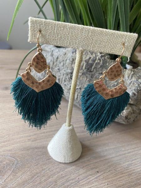 Goddess Teal earrings