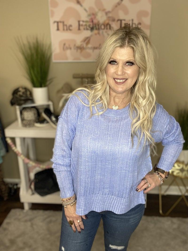 Missy Periwinkle Spring Sweater