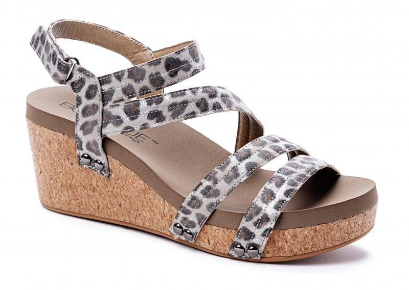 Silver Leopard Wedge by Corky's