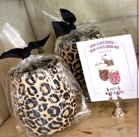 Winearita Leopard Koozie Drink mix