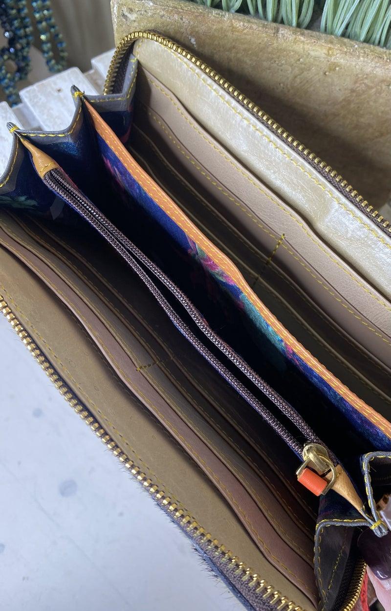 Genuine Hair on Hide Leather Wallet