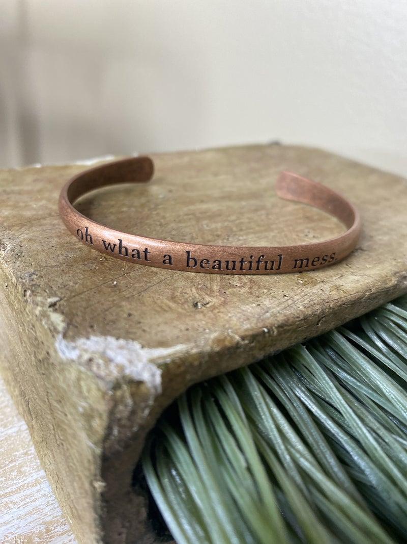 Beautiful mess copper bracelet