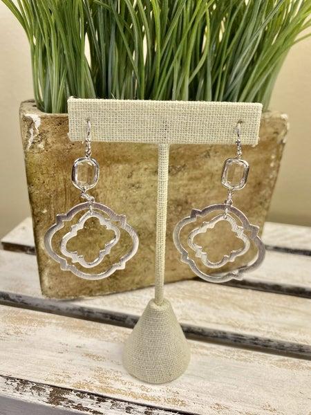 Quatrefoil Silver earring