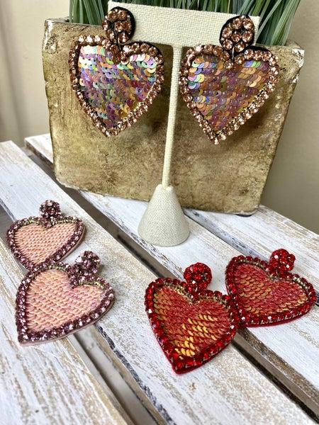 Sequin My Heart Earrings