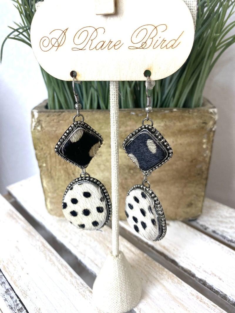 Hair on Hide Handmade earrings