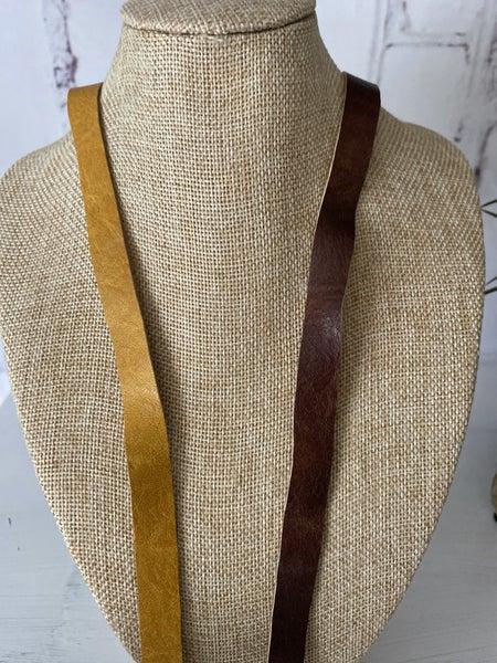 Necklace extender - vegan leather