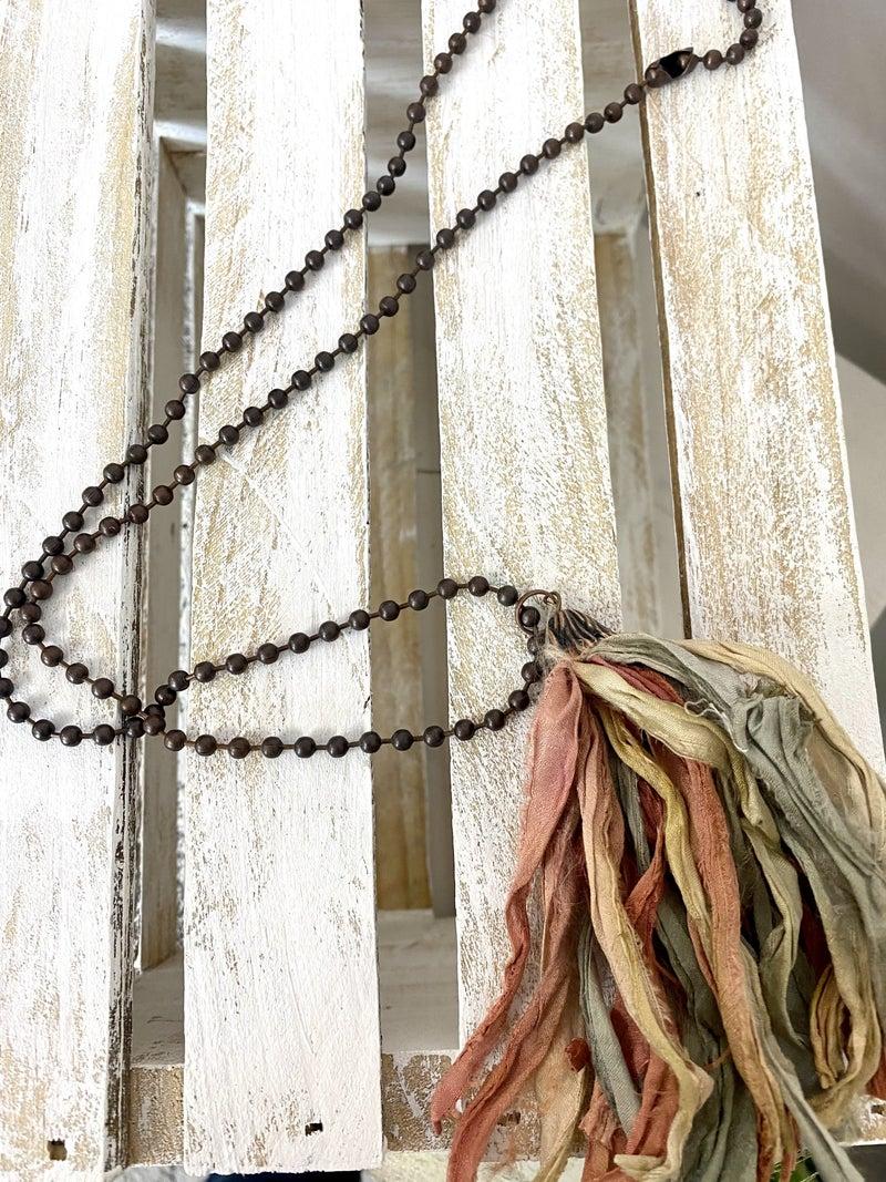 Sari Silk Tassel Necklace